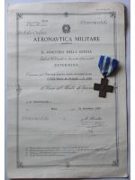 Italy WW2 Cross War Merit 1949 with Diploma Air Force 1942 Military Medal Italian Decoration Republic 1959 WWII 1940 1945