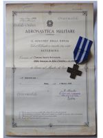 Italy WW2 Cross War Merit 1949 with Diploma Air Force 1942 Military Medal Italian Decoration Republic 1963 WWII 1940 1945