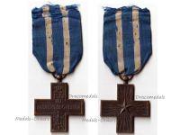 Italy WWI Cross for War Merit Maker Marked N