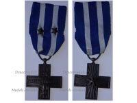 Italy WW2 Cross War Merit with 2 Bronze Stars Military Medal 1949 Italian Decoration Republic