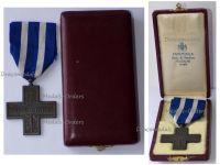 Italy WWII Cross War Merit 1940 1945 Italian Republic 1949 Boxed by Cravanzola