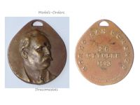 Italy Village San Lorenzo Commemorative Medal 1913 By Zingoni and Firenze