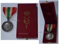 Italy Royal House Silver Memorial Medal King Vittorio Emanuele III 1902 Italian Decoration Regia Zecca Boxed