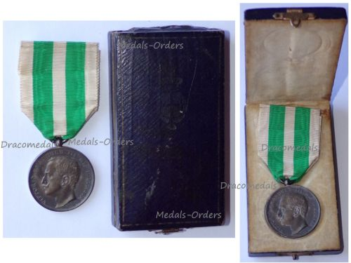 Italy Silver Commemorative Medal for the Earthquake in Sicily and Calabria 1908 by Giorgi Boxed