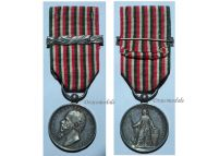 Italian Wars Independence 1859 bar 1860 Military Medal Italy Commemorative King Vittorio Emmanuele Canzani