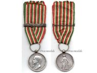 Italian Wars Independence 1859 bar 1866 Military Medal Italy Commemorative King Vittorio Emmanuele Canzani