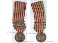 Italy WWI Italian Unification Commemorative Medal for the War of 1915 1918 with 3 clasps 1916 1917 1918 by Sacchini