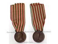 Italian WW1 Medal Decoration Unification Italy 1914 1918 Maker SIM Roma Great War Service Award