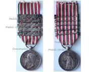 Italian Wars Independence Commemorative Medal 1859 with Bars 1849 1859 1860-61 1866 1870 by Canzani