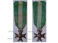 Italy WW1 Cross Military Long Service 16 XVI years 1900 1912 Italian Medal Decoration King Vittorio Emmanuele Silver 800