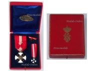 Italy WWI Order of the Italian Crown Officer's Cross King Vittorio Emanuele III Boxed by Tarantino