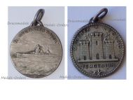 Italy RN Trieste Heavy Cruiser Patriotic Medal 1926 Silver 800 by Ferrea