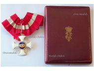 Italy WWI Order of the Italian Crown Commander's Cross King Vittorio Emanuele III Boxed