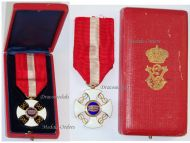 Italy WWI Order of the Italian Crown Knight's Cross King Vittorio Emanuele III Boxed