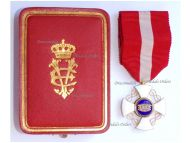 Italy WWI Order of the Italian Crown Knight's Cross King Vittorio Emanuele III Boxed by Cravanzola
