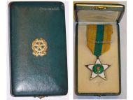 Italy WW2 Knight Cross Star Order Merit Labor 1924 Italian Decoration Republic Award 1952 post WWII