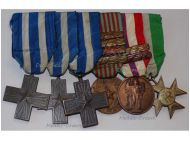 Italy WWII Set of 6 Medals Cross War Merit Commemorative Military Medal bars 1940 1943 1945 Long Service Cross for XXV Years Italian Republic