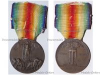 Italy WWI Victory Interallied Medal Maker Lorioli Castelli Laslo Official Type 3