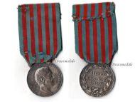 Italy Italo-Turkish War 1911 1912 Silver Commemorative Medal by Giorgi & the Italian Royal Mint