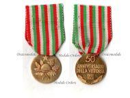 Italy WW1 Gold 18k Military Medal 50th Anniversary Victory Great War 1918 1968 Italian Decoration WW1 1914