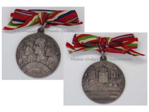 Italy WWI Silver Medal 6th Plateau Army Altipiani Italian British French Armies Decoration Great War WW1 1914 1918 by Johnson