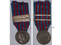 Italy WWI Libya Campaign Commemorative Medal with 2 Bars 1917-18 1918-19 by Giorgi & the Italian Royal Mint