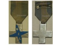 Italy WW2 Fascist Youth GIL Cross Pale Blue Military Medal Italian Kingdom Decoration Fascism Mussolini Award