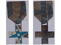 Italy WW2 Fascist Youth ONB Cross Pale Blue Military Medal Italian Kingdom Decoration Fascism Mussolini Award