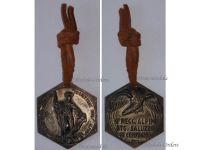 Italy WW2 4th Alpine Regiment Saluzzo Battalion Military Medal Taurinense Division St Bernardo Italian Decoration Ethiopia 1936 Fascism Mussolini Silver 800