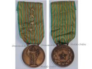 Italy WW2 Commemorative Military Medal 1940 1943 NCO 4 stars Italian Fascism Mussolini Republic