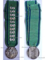Italy WWII Mother's Medal of the Fascist Union of Large Families with Bows for 10 Kids by the Italian Royal Mint