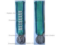 Italy WWII Mother's Medal Fascist Union of Large Families with Bows for 8 Kids by the Italian Royal Mint