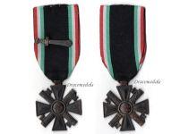 Italy WW2 MVSN Militia Cross Long Service 10 years Medal sword Blackshirts Italian Fascism WWII 1939 1945