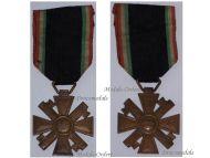 Italy WW2 MVSN Militia Cross Long Service 10 years Medal Blackshirts Italian Fascism WWII 1939 1945