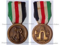 NAZI Germany Italy WWII Afrika Korps Medal for the Joint Italo-German Operations in North Africa 1942 1943 by De Marchis & Lorioli
