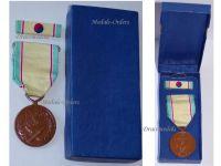 Korea RoK Korean War Service Military Medal Commemorative 1950 1953 Decoration Award Ribbon Bar Boxed