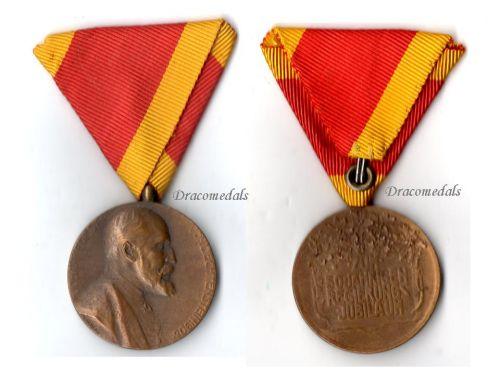 Liechtenstein Golden Jubilee Medal Prince Johann 1858 1908 Decoration Award Military Civil