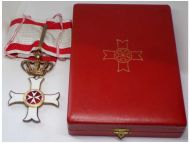 Maltese Sovereign Military Hospitaller Order Saint John Jerusalem Rhodes Malta Commander's Cross Boxed by Cravanzola