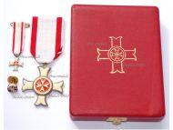Maltese Sovereign Military Hospitaller Order of Saint John of Jerusalem Rhodes & Malta Knight's Cross Set of the Order of Merit (Order pro Merito Melitensi) Boxed by Cravanzola