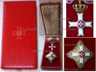 Maltese Sovereign Military Hospitaller Order Saint John Jerusalem Rhodes Malta Grand Officer's Set Boxed by Cravanzola