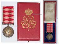 Monaco Medal Honor 1st Class Prince Rainier III Military Civil Merit Service Decoration