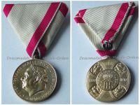 Montenegro Golden Jubilee Medal Reign King Nicholas I 1860 1910 Montenegrin Decoration by Schwarz