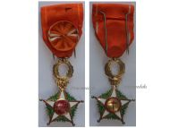Morocco WW1 Royal Order Ouissam Alaouite Officer Decoration Military Medal 1914 1918 Great War 2nd Type