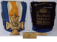 Netherlands Officers Long Military Service Cross XV Years Dutch Holland Decoration Award 1906 1953 by Van Wielik