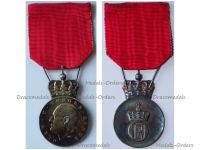 Norway King Olav V Silver Memorial Medal 1991 by Hansen