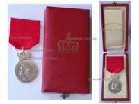 Norway King Olav V Silver Memorial Medal 1991 by Hansen Boxed by the Norwegian Royal Mint