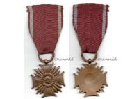Poland WW2 Cross Merit PR Bronze Polish Military Civil Medal 1923 Decoration WWII 1939 1945 Blitzkrieg