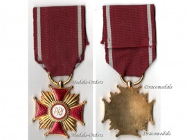 Poland Cross Merit PRL Gold Polish Military Civil Medal 1952 Communism People's Republic Decoration