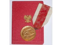 Poland Merit National Defence Military Medal 1966 Polish Communism People's Republic Decoration Diploma