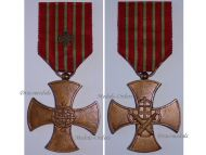 Portugal War Cross 4th Class Military Medal Portuguese Republic Decoration Colonial Wars 1946 1971